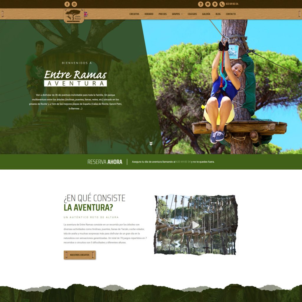Diseño Web - Entre Ramas Aventura | Cube4