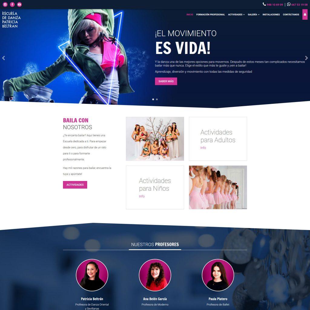 Diseño Web - Escuela de Danza Patricia Beltrán   Cube4