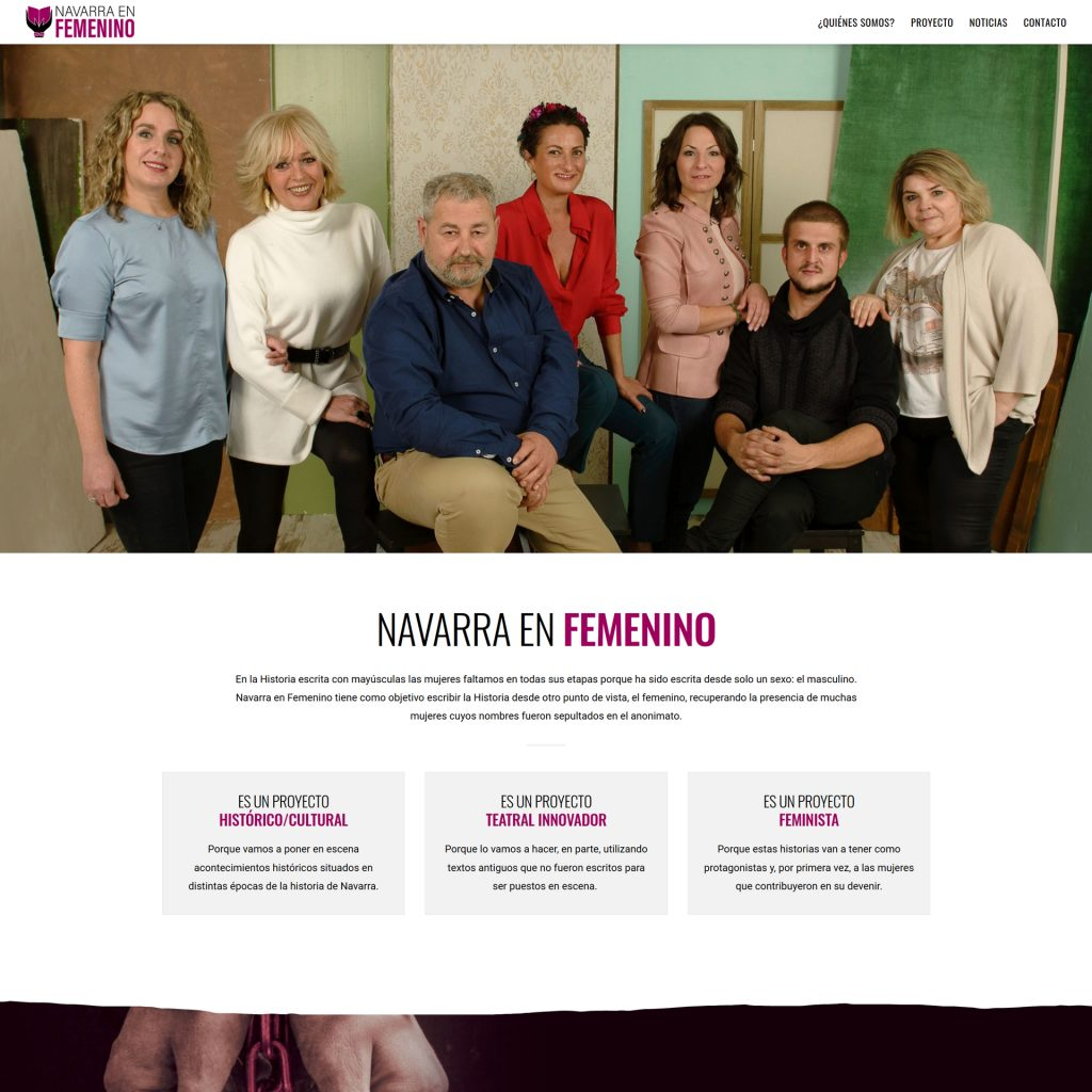 Diseño Web - Navarra en Femenino   Cube4