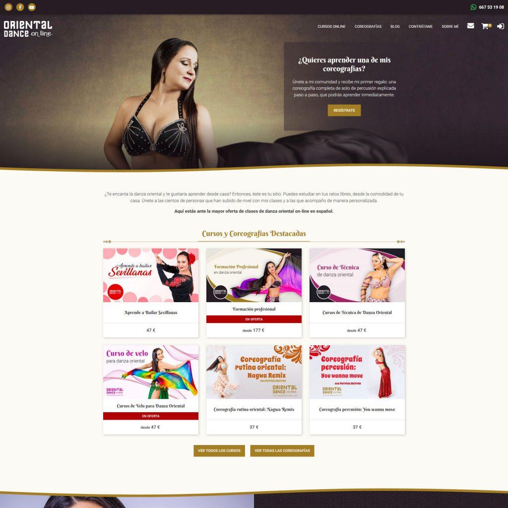Diseño Web - Oriental Dance Online   Cube4