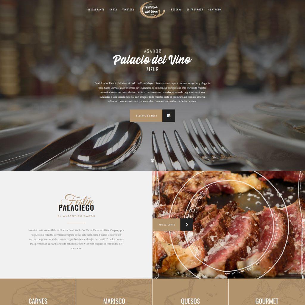 Diseño Web - El Palacio del Vino   Cube4