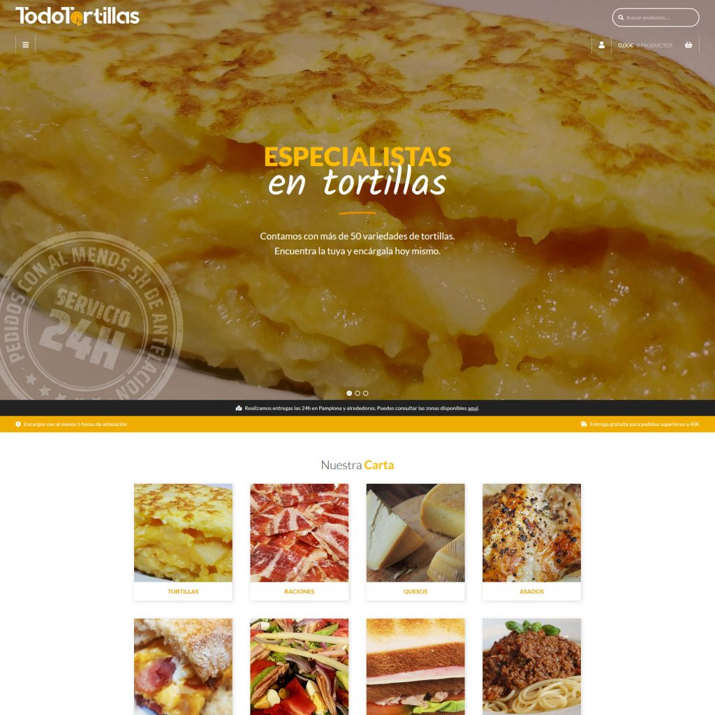 Diseño Web - Todo Tortillas   Cube4
