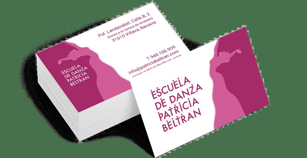 Tarjeta - Escuela de Danza Patricia Beltrán   Cube4